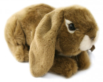 Living Nature Lop Eared Rabbit Soft Toy - Brown