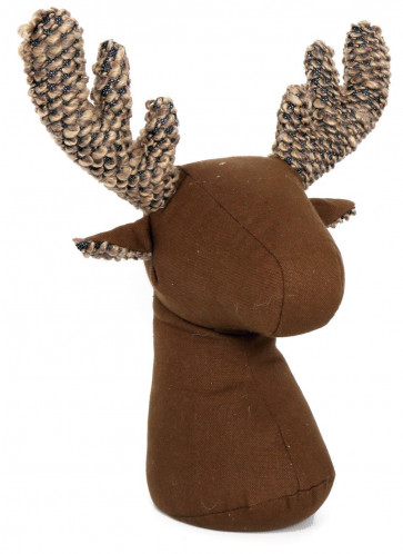 Christmas Stag Head Antler Doorstop ~ Brown Door Stop