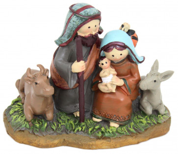 Resin Christmas Nativity Scene Ornament Decoration