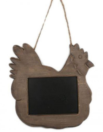 General Store Vintage Hanging Wooden Kitchen Chicken Chalkboard ~ Hen Memo Blackboard