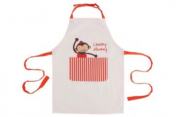 Cicus Cheeky Monkey Cotton Canvas Childrens Craft Cooking Apron