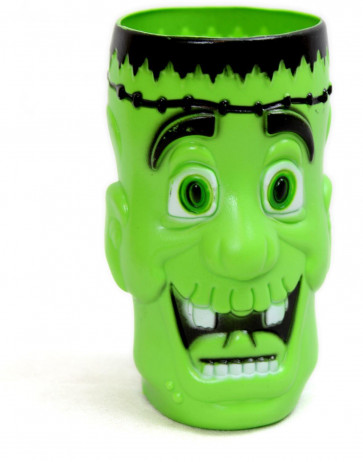 Haunted House Jumbo Halloween Plastic Drink Beakers ~ Frankenstein