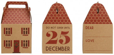 House Shape Christmas Gift Box ~ Do Not Open Until 25Th December