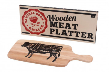 Natural Born Griller Burnt To Perfection Wooden Bbq Meat Serving Board
