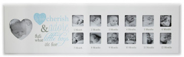 1St Year Poem Photo Frame ~ Blue Photo Frame Babys First Year