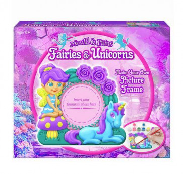 Fairies And Unicorns Mould And Paint Your Own Picture Frame Craft Activity Set For Children