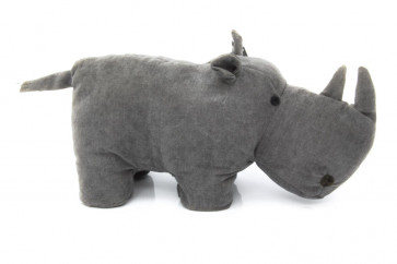 Take Me Home Rhinoceros Doorstop 30Cm ~ Grey Rhino Wildlife Animal Novelty Door Stop