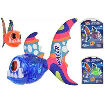 MY Splash Light Up Dive Fish Underwater Catch Throw Diving Game Swimming Pool Toy ~ One Supplied ~ Colour Varies