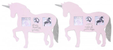 Magical Unicorn Shaped Multi Frame Picture Photo Frame ~ Design Varies