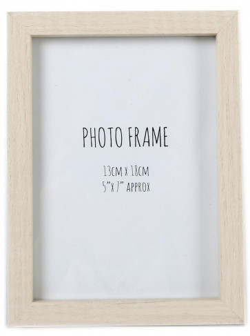 Simple Wooden Box Style Single Photo Frame Freestanding Portrait Or Landscape 5 x 7 ~ Light