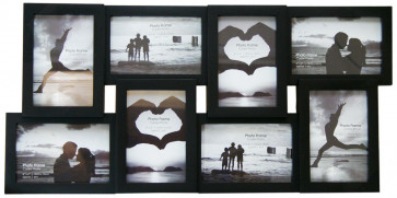 8 Multi Collage Photo Frame - Black