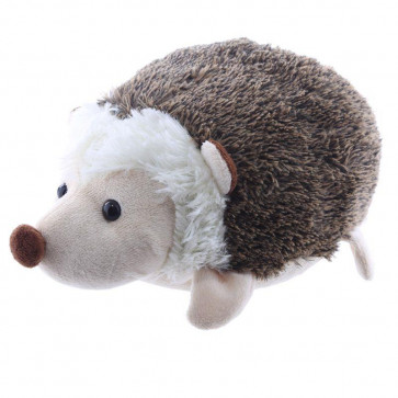 Hedgehog Shaped Doorstop - Fabric Door Stop - Brown