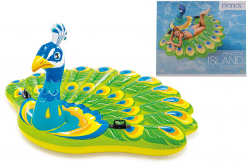 Intex 57250 Inflatable Swimming Pool Lounger Float Peacock Island Large Lilo
