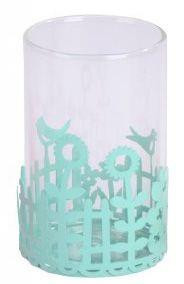 Think Pink Garden Party Tealight Candle Holder - Blue