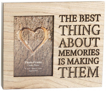 Wooden Cut Out Word Photo Frame 4 X 6 ~ Memories