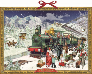 Deluxe Traditional Card Advent Calendar Large - The Christmas Express
