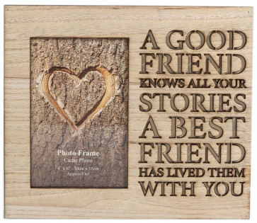 Wooden Cut Out Word Photo Frame 4 X 6 ~ Friends