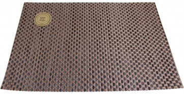 Wipe Clean PVC Woven Dining Table Place Mat Single ~ Copper Placemat