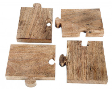 Premium Kitchen Wooden Jigsaw Puzzle Chopping Serving Board For Bread Cheese Starters
