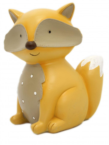 Adorable Children's Ceramic Fox Novelty Money Box ~ Forest Animal Piggy Bank