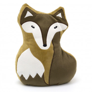Cute Fox Doorstop - Novelty Decorative Fabric Animal Door Stop - Brown
