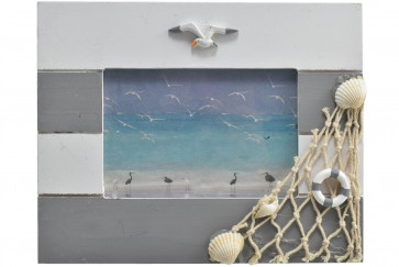 Beautiful Coastal Wooden Photo Frame - Nautical Picture Frame
