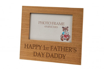 Lovely Wooden Picture Photo Frame ~ 1st Fathers Day Gift