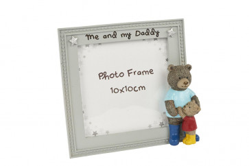 Cute Hugging Daddy and Baby Bear Photo Frame ~ Daddy And Me Picture Frame