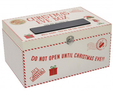 Christmas Eve Elf's Special Box ~ Christmas Eve Box with lid and chalkboard to personalise it