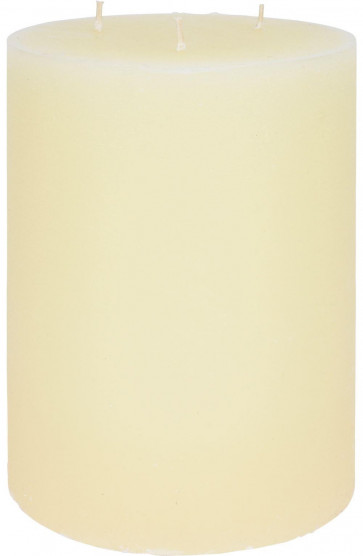Jumbo 3 Wick Cream Pillar Candle - Extra Large Ivory Wax Church Candle 18cm