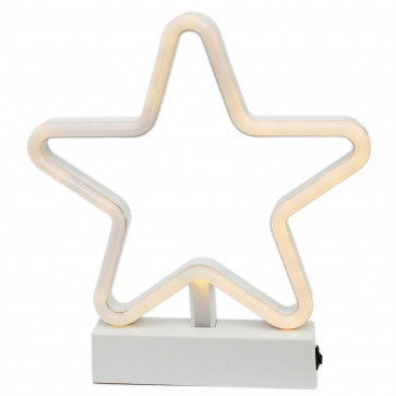 Battery Operated Neon Xmas Star Light ~ Free Standing Light Up Led Christmas Decoration