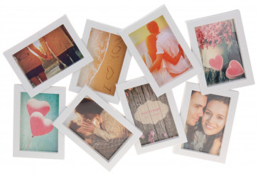 Large 8 Aperture 3D Multi Hanging Photo Picture Collage Frame - White