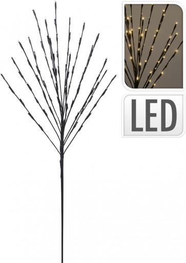 Black Illuminated Twig Tree Light Up Lamp ~ 80 LED Lights Battery Operated Indoor Outdoor Decoration