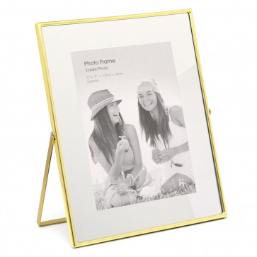 Beautiful Gold Effect Mirrored Picture Frame - 5 x 7 Single Photo Frame