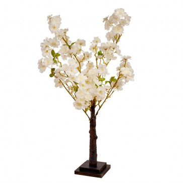 Decorative 70cm Fake Artificial White Blossom Tree ~ Beautiful Faux Indoor Plant