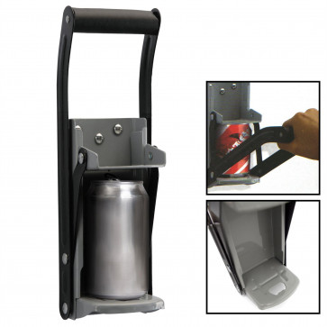 2 In 1 Wall Mounted Can Crusher With Bottle Opener - Can Crusher For Recycling, Wall Mounted Bottle Opener
