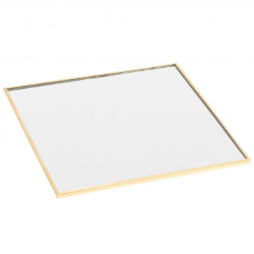 15cm Decorative Mirror Glass Display Plate | Table Centerpiece Candle Vanity Perfume Tray | Square Tealight Tray