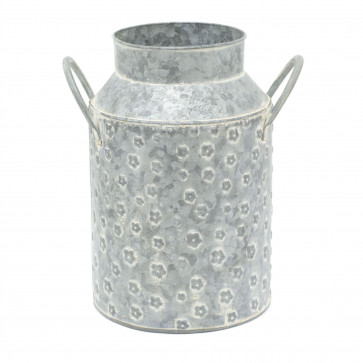 27cm Vintage Style Decorative Milk Churn   Floral Metal Artificial Flower Jug Vase Can   Shabby Chic Home Accessories