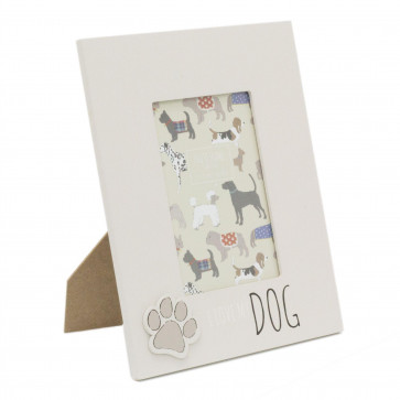 4 x 6 Photo Picture Frame For Dog Lovers   Pet Photo Frame With Quote   Paw Print Puppy Dog Frame - I Love My Dog