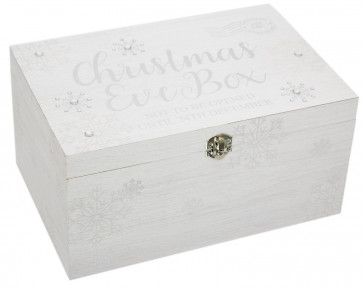 Snowflake Christmas Eve Box ~ Wooden Christmas Eve Present Box With Lid