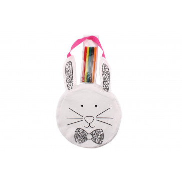 Delightful Spring Has Sprung Children Art And Crafts Activity - Paint Your Own Bunny Bag