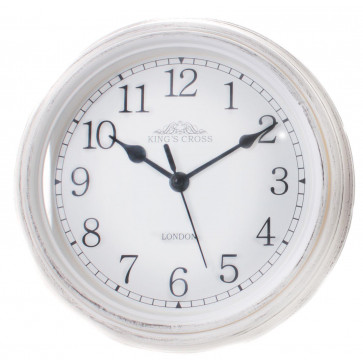 Shabby Chic Vintage Small Kitchen King's Cross London Wall Hanging Clock 22cm ~ White
