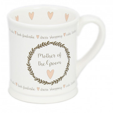 Large White China Glazed Ceramic Mug For Tea And Coffee Wedding Favour Gift ~ Mother Of The Groom