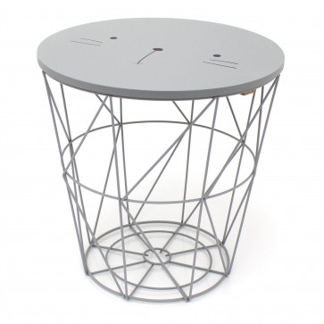 3 in 1 Children's Bedside Table Wire Storage Basket Stool - Fun Animal Design Kids Toy Box Chair Console Table ~ Cat