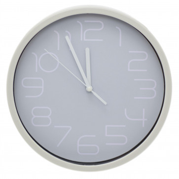 20cm Contemporary Silent Wall Clock | Non Ticking Wall Mounted Clock | Analogue Home Office Wall Clocks - Colour Varies One Supplied