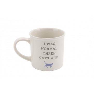 I Was Normal Three Cats Ago' Best In Show Ceramic Cat Mug with Gift Box