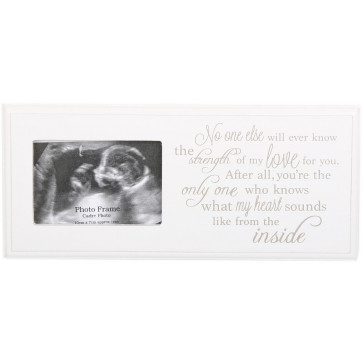 24 X 10Cm Baby Scan Photo Frame Plaque - First In Utero Scan Picture Frame