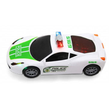 Bump And Go Winner Police Car With Lights & Sounds ~ Bump-N-Go Fun Emergency Services Car