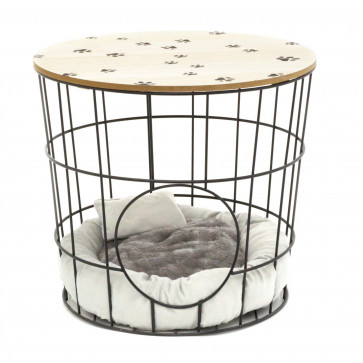 Pet House Cave Side Table   Coffee Table With Pet Bed   Living Room Side Tables   Pet Crate End Table