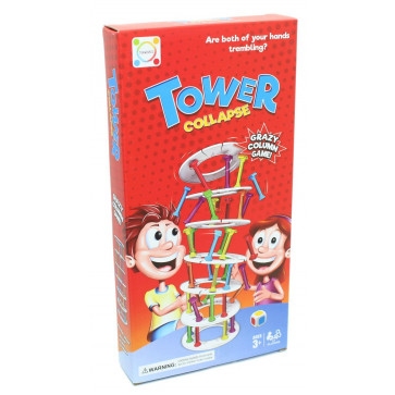 Crazy Column Collapsing Tower Game ~ Family Games Night